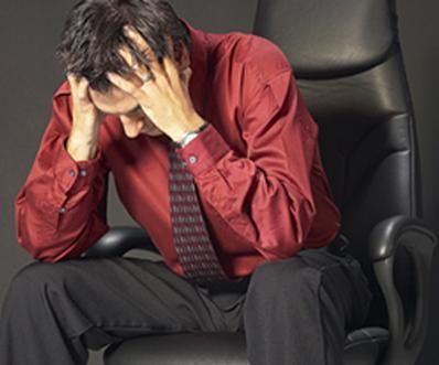 tensión estres persona estresada dolor de cabeza