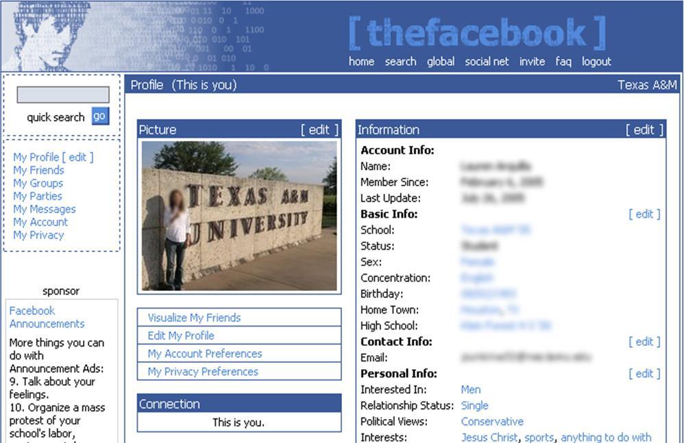 inicios de facebook